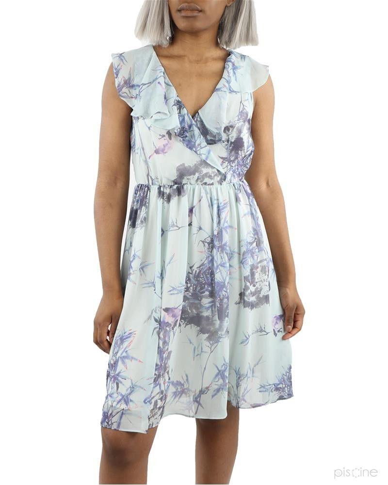 Robe bleue fleurie Dexters