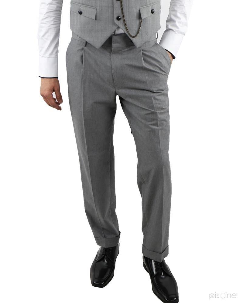 Pantalon à pinces gris Ly Adams
