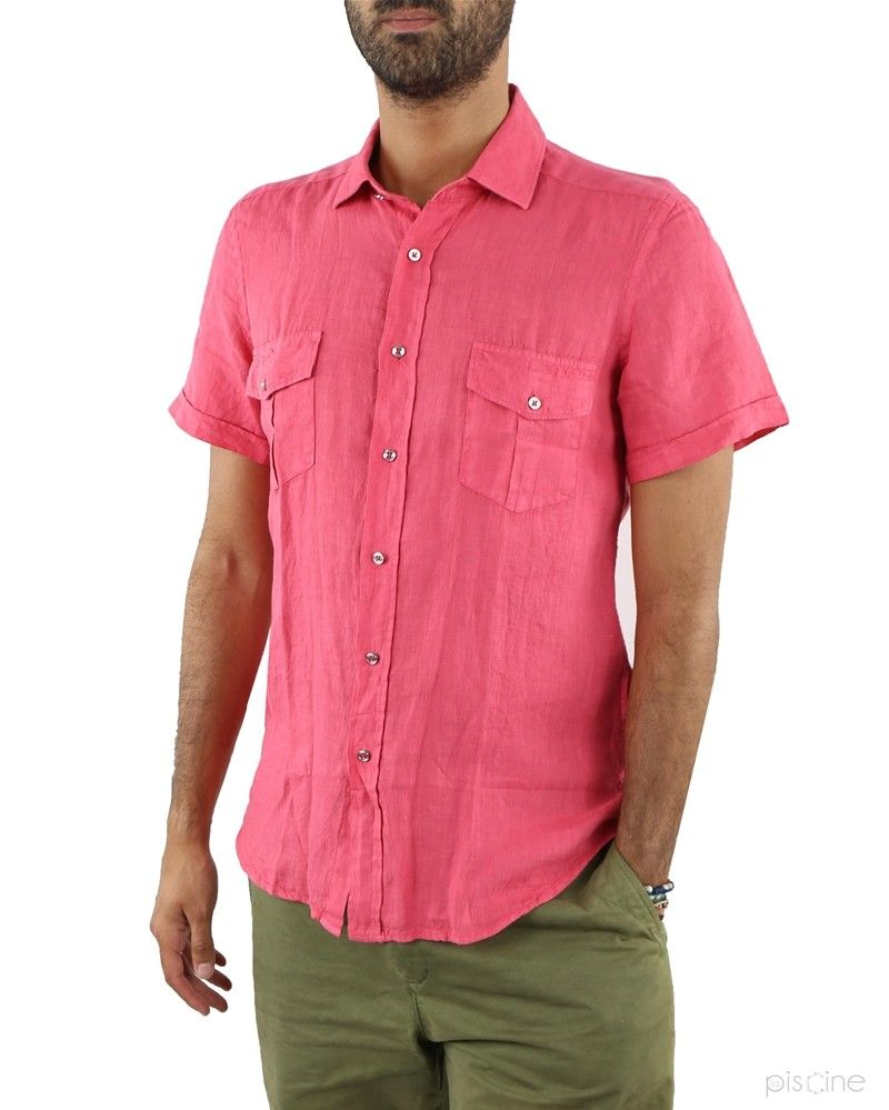 Chemise rose manches courtes Liu Jo