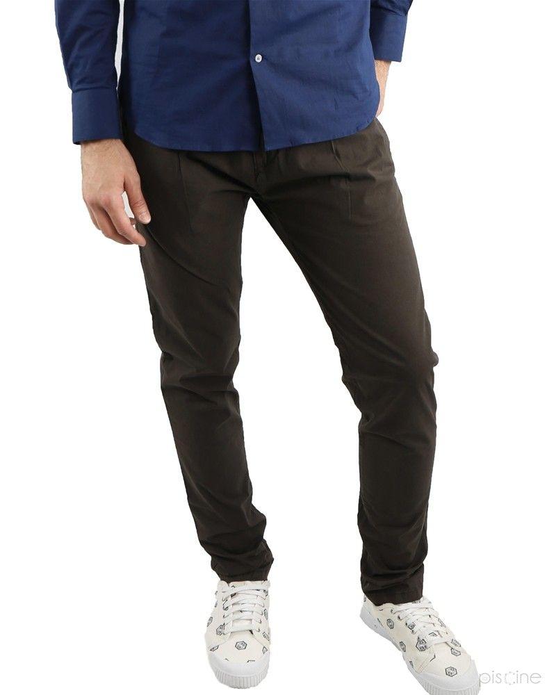 Pantalon à pinces marron Liu Jo