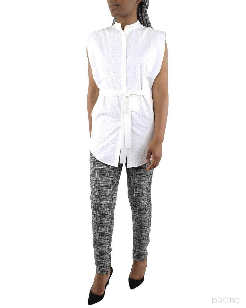 Pantalon gris effet raturé Damir Doma
