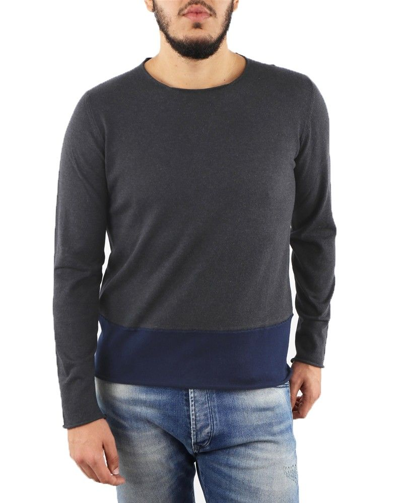 Pull fin gris col rond Soho