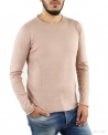 Pull fin rose col rond Re-Edition