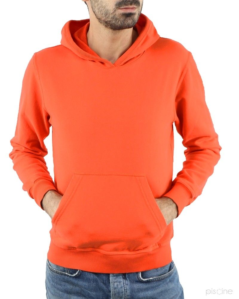 Sweat orange avec capuche Soho