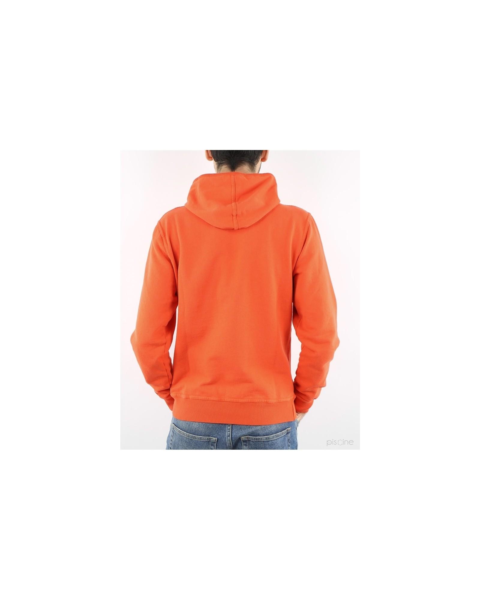 Sweat orange avec capuche Soho
