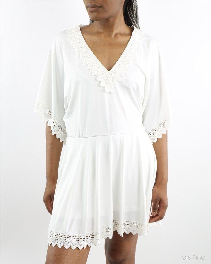 Robe blanche à crochet Dexters