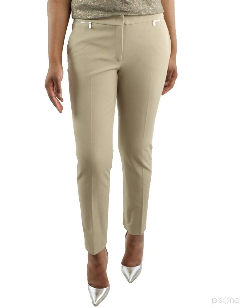 Pantalon beige zippé Michael Kors