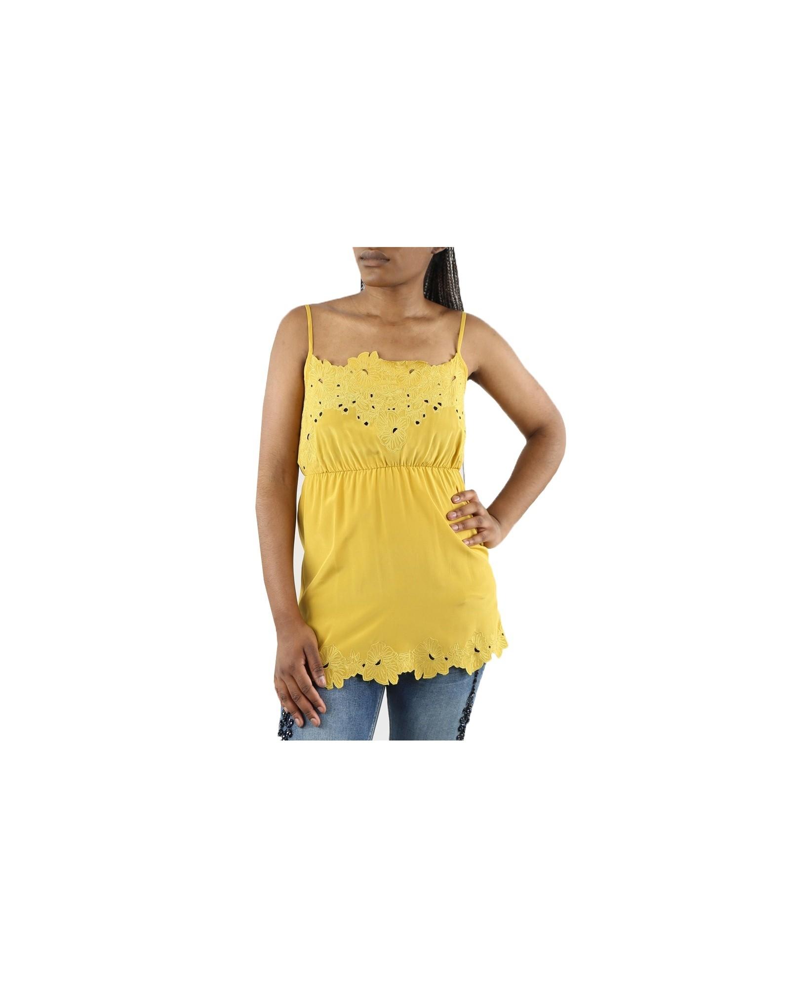 Tunique jaune en soie Gotha / A La Fois
