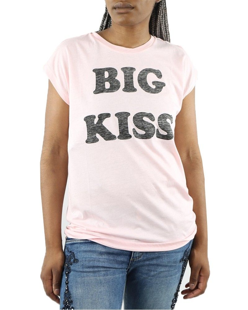 "T-Shirt rose ""Big Kiss"" Zoe Karssen"