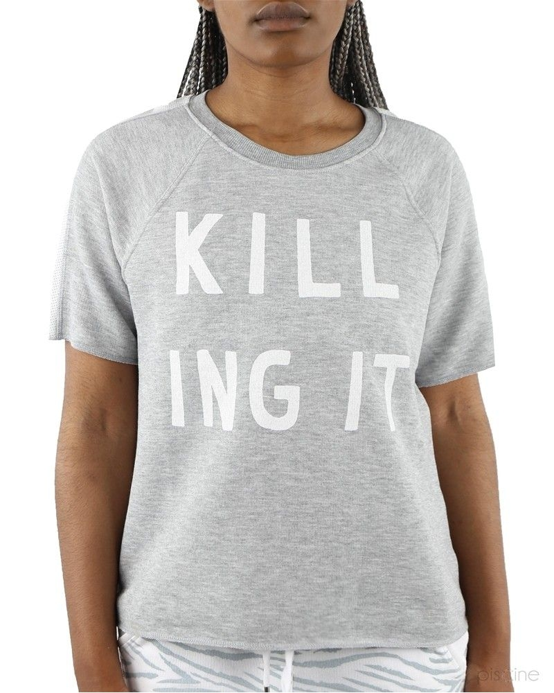 "T-Shirt gris "" kill ing it"" Zoe Karssen"