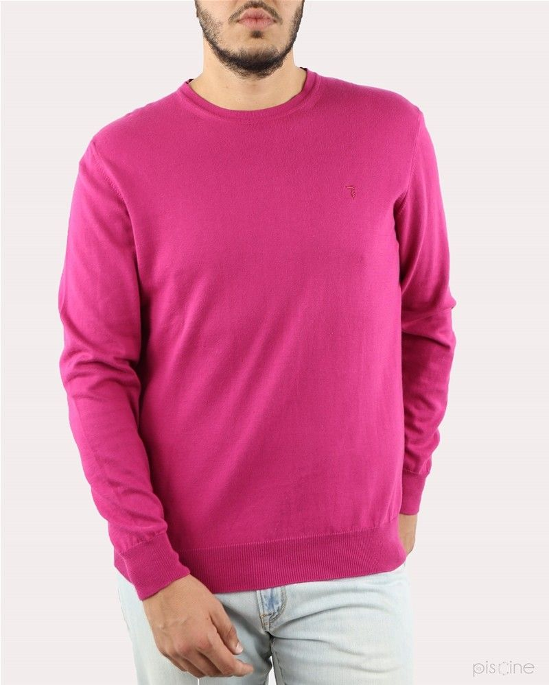Pull rose col rond Trussardi Homme
