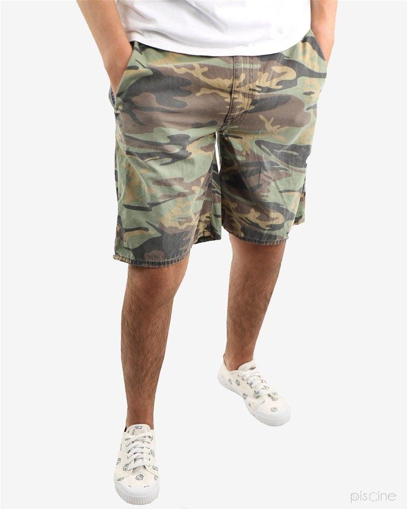 Bermuda kaki effet camouflage People