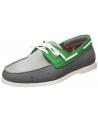 Chaussures bateau grises et vert Swims