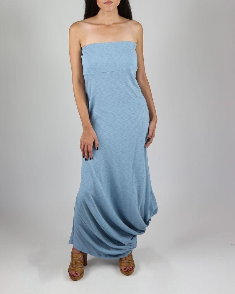 Robe longue bustier bleue Manila Grace