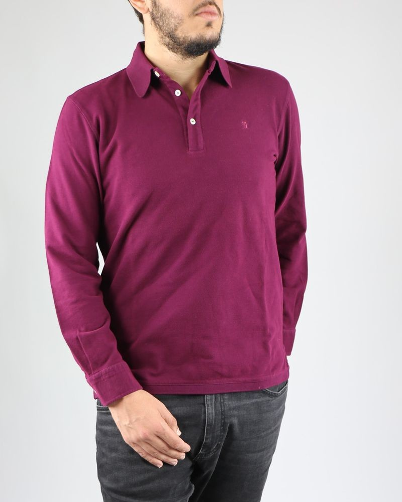 Polo manches longues violet Panicale