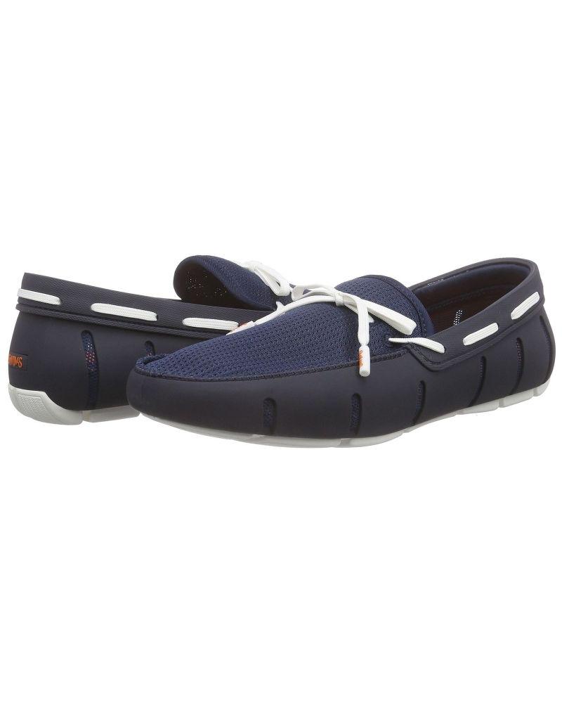 Chaussures bateau bleues et blanches Swims