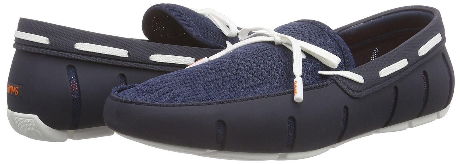 Chaussure bateau bleues et blanc Swims