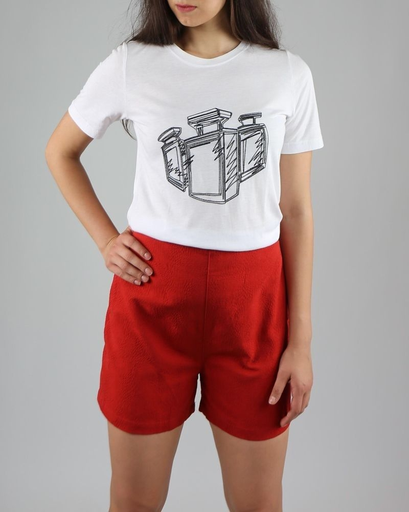 Short taille haute rouge Department 5