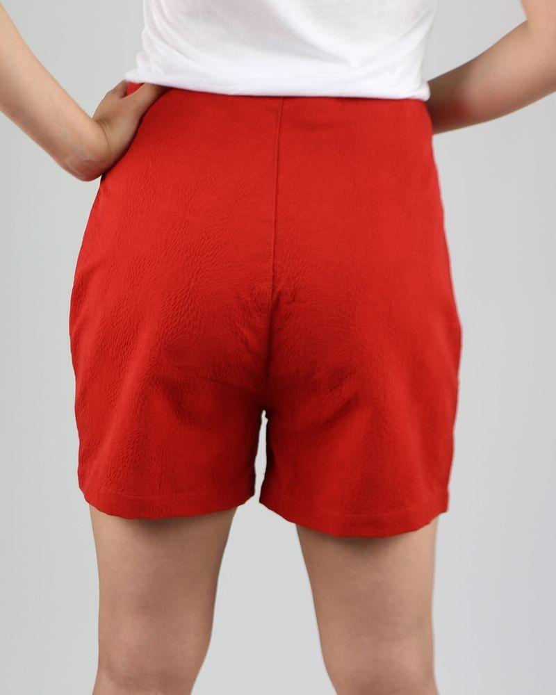 large choix de designs meilleure vente couleur n brillante Short taille haute rouge Department 5 pas cher - Outlet La Piscine ...