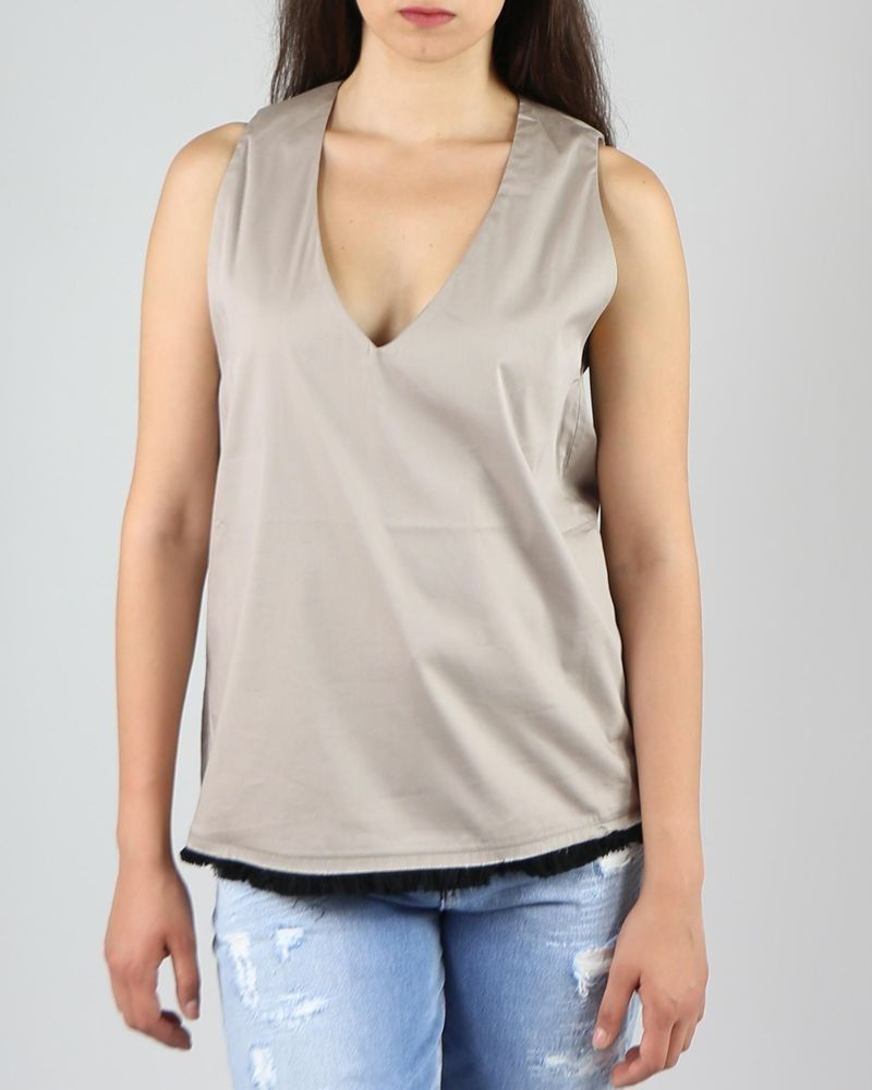Top long taupe Department 5 femme