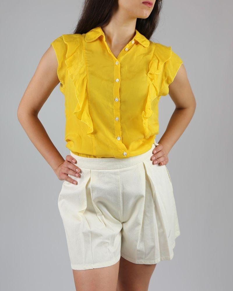 Short à plis crème Department 5 femme