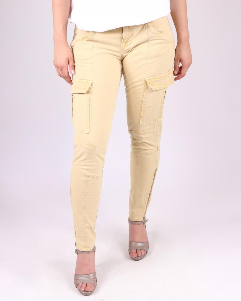 Pantalon cargo jaune Jbrand