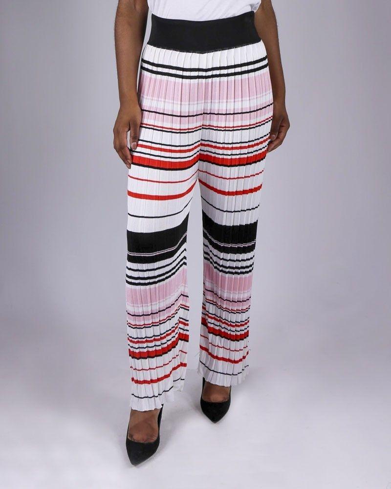 Pantalon en maille crème Space Simona Corsellini