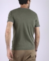 Pull fin vert manches courtes Fred Melo