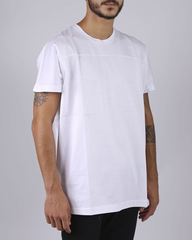 T-shirt blanc col rond Low Brand