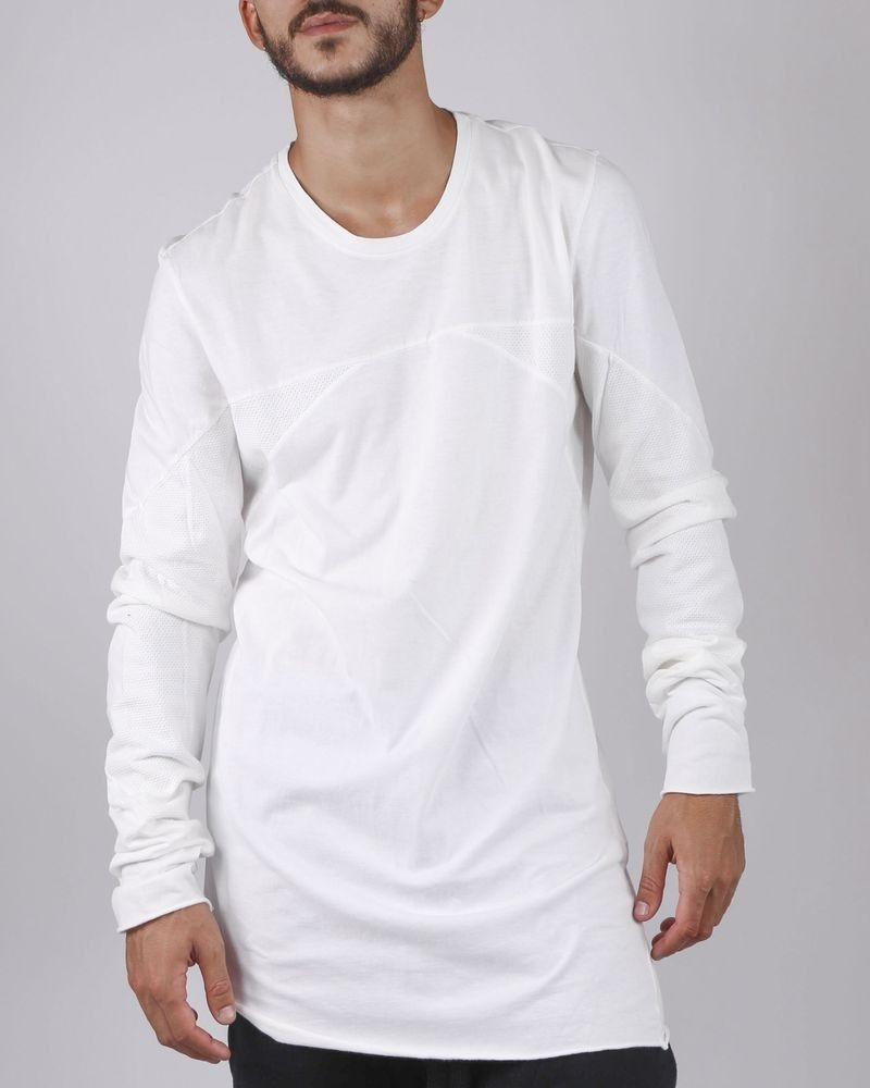 T-shirt style oversize blanc