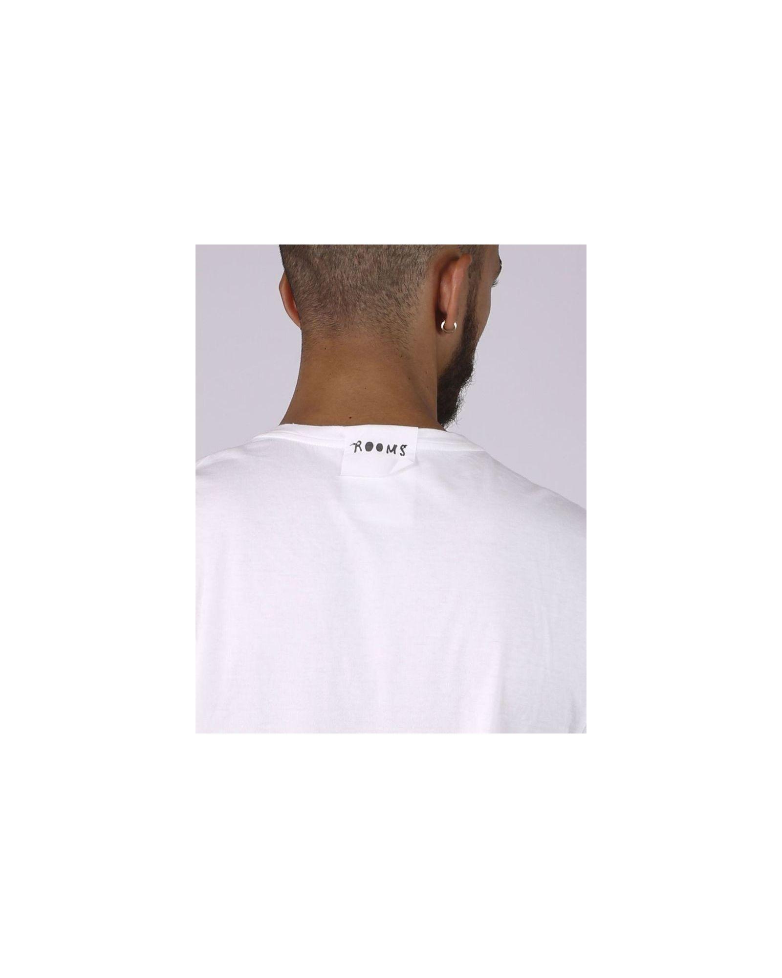 T-shirt style oversize blanc