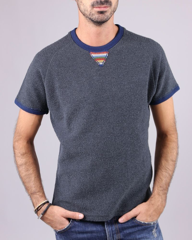 T-shirt façon sweat gris SOHO