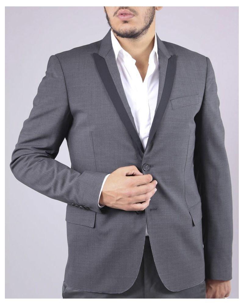 Veste de costume grise Les Hommes