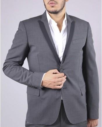 Veste droite gris Les Hommes