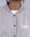 "Blouson teddy grise ""Naughty"" SVNTY"