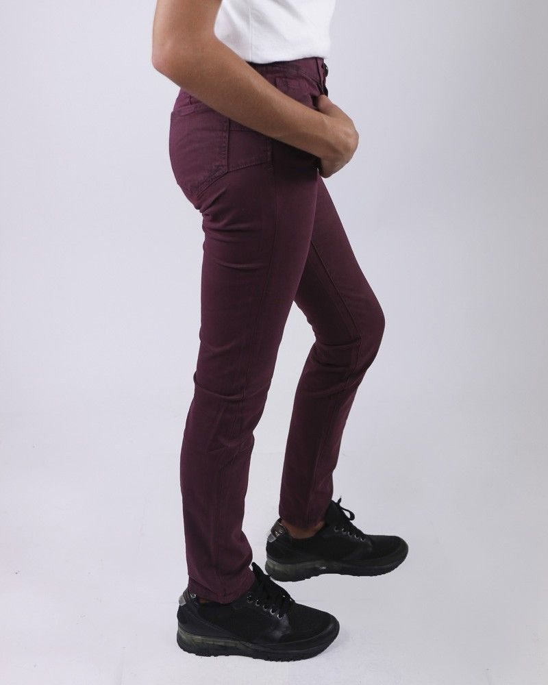 Pantalon 5 poches violet May June