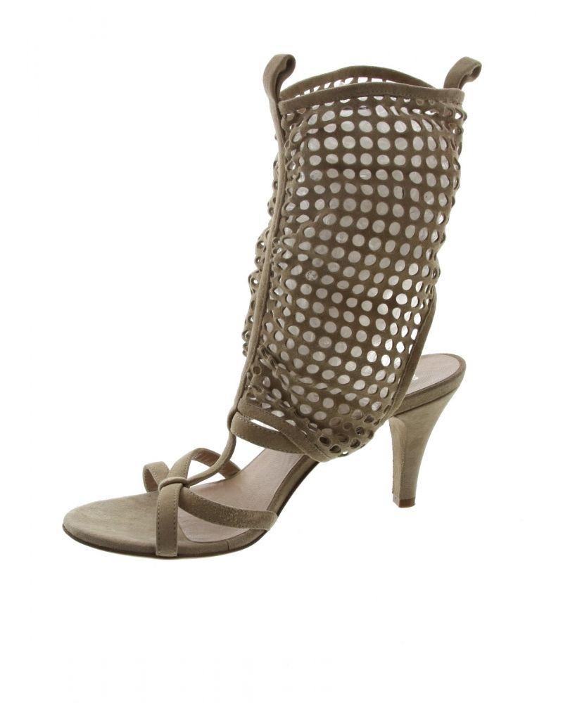 Sandale cage beige EVA TURNER