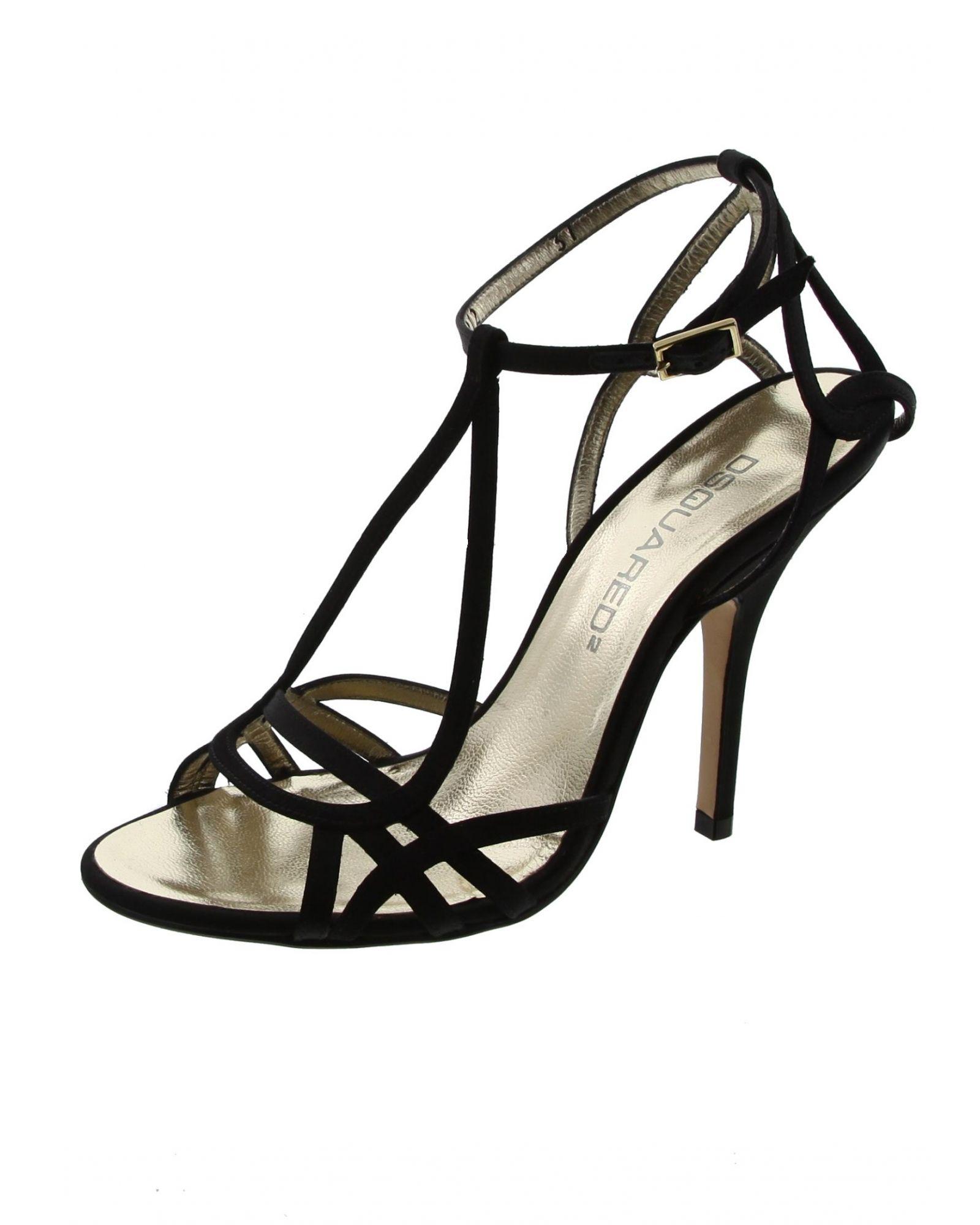 Sandale en satin noir LIU JO