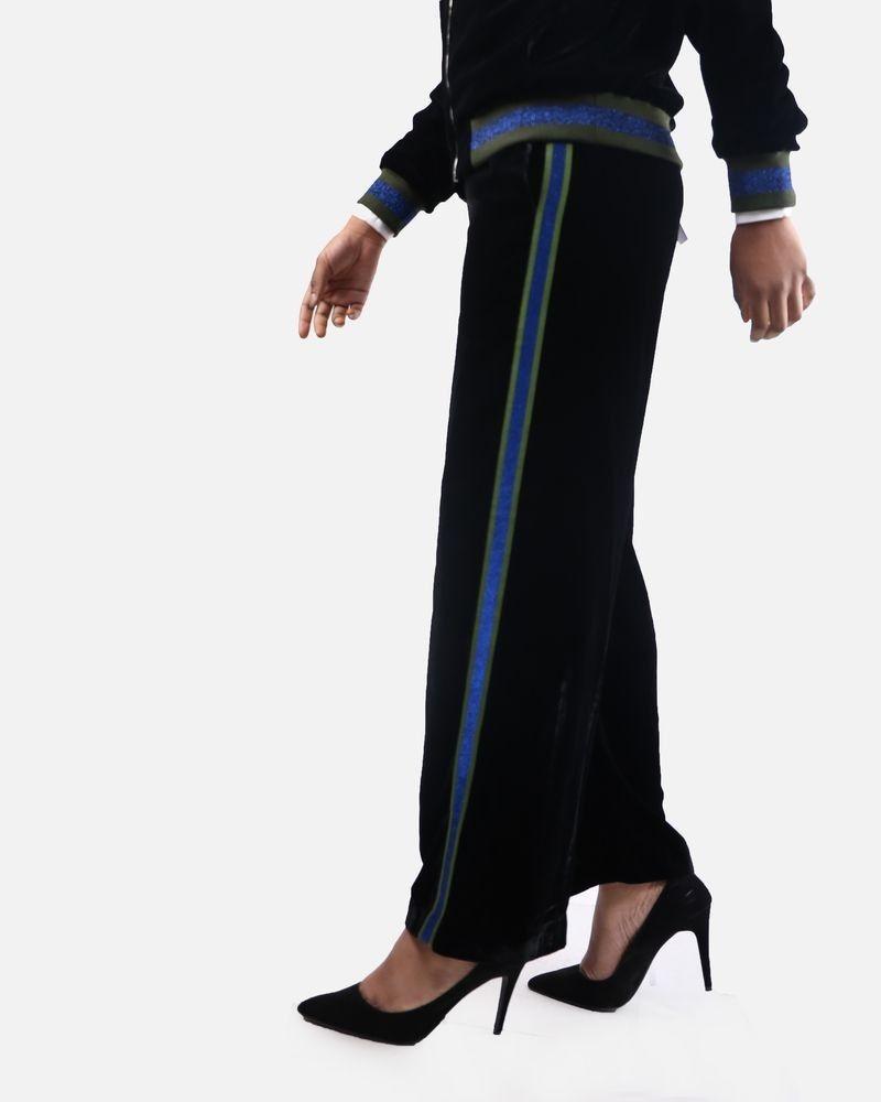 Pantalon noir à bandes Isabelle Blanche