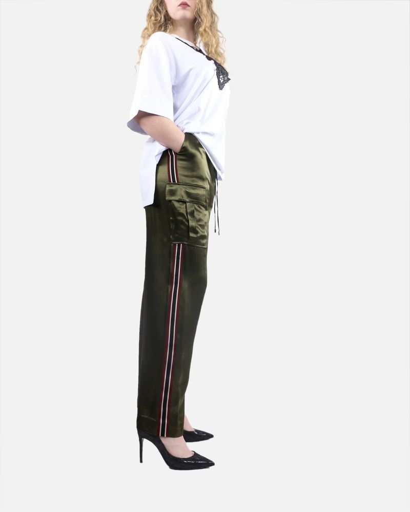 Pantalon souple à bandes kaki Isabelle Blanche