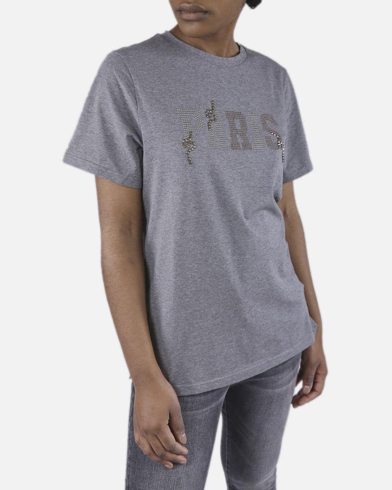 """T-Shirt gris """"Paris"""" Isabelle Blanche"""