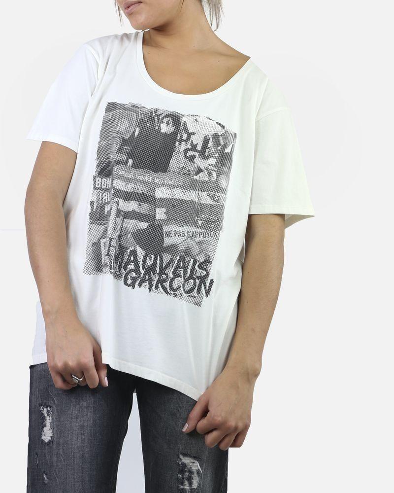 T-Shirt blanc 'Mauvais Garçon' Balmain
