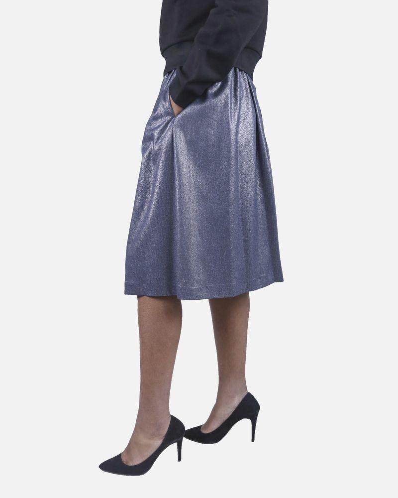 Jupe bleue pailletée Isabelle Blanche