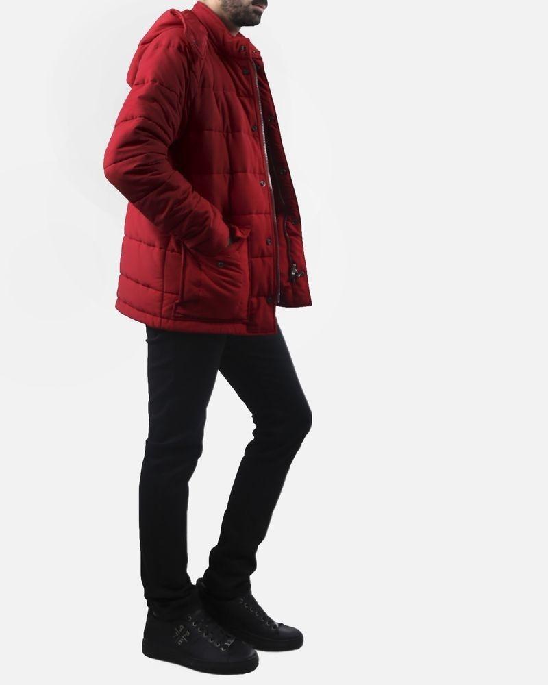 Manteau matelassé rouge Melinda Gloss