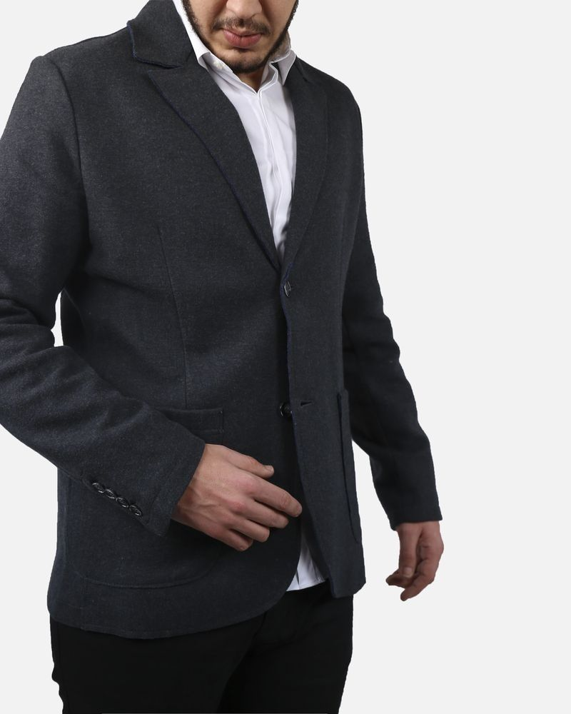 Veste chaude grise Woolgroup Fiesoli