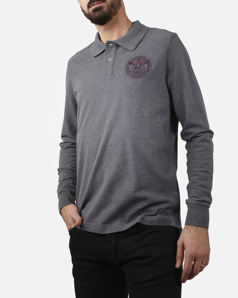 Polo gris manches longues Brooksfield