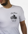 "T-shirt ""Club Racer"" blanc Roy Roger's Rugged"