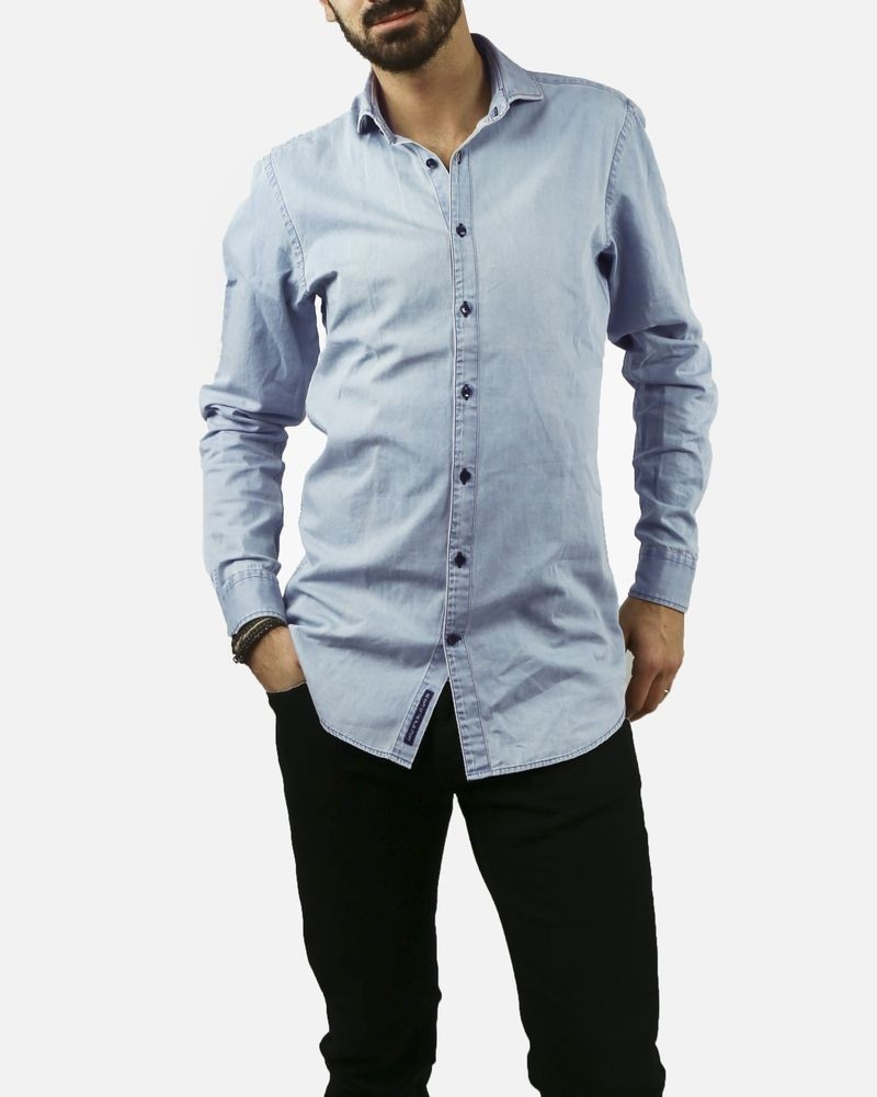 Chemise chambray bleu ciel Blue Industry
