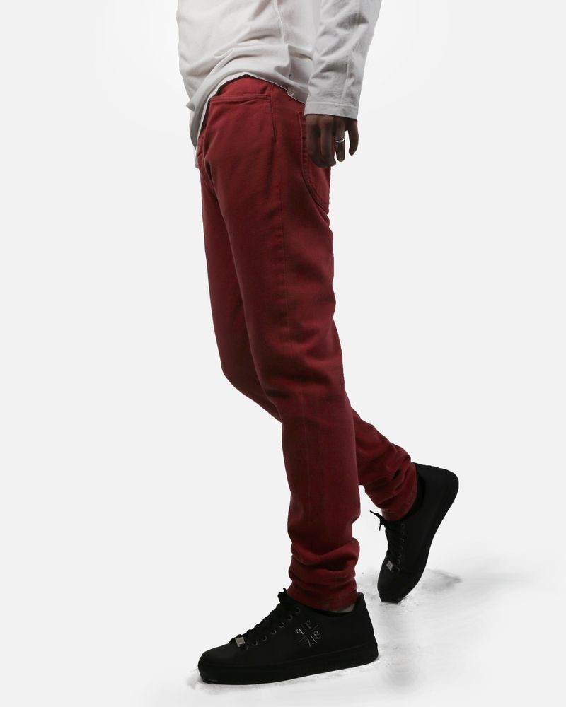 Jean slim en denim rouge Maison Margiela