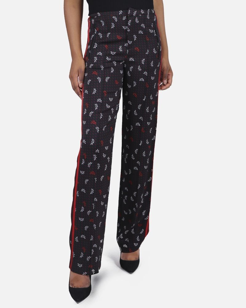 Pantalon noir à pois rouge Space